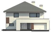 Проект двоповерхового будинку із елементами сучасного стилю