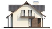Проект будинку з гаражем, мансардою і господарським приміщенням