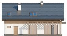 Проект класичного котеджу з гаражем витягнутої форми