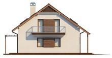 Проект сімейного будинку з мансардою і додатковою спальнею