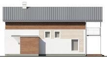 Проект двоповерхового невеликого будинку для вузької ділянки