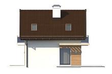 Проект невеликого дачного будинку з мансардою