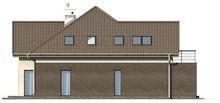 Проект котеджу з фронтальним гаражем