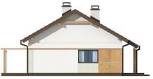 Проект невеликого акуратного одноповерхового будинку з двосхилим дахом