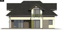 Проект будинку з гаражем на два авто і великою кімнатою над ним