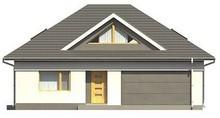 Проект будинку з фасадними вікнами на мансарді