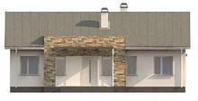 Проект простого елегантного одноповерхового будинку