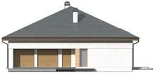 Проект будинку з чотирьохспадовим дахом і відкритою мансардою
