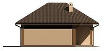 Проект стильного одноповерхового будинку з гаражем