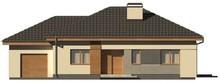 Проект одноповерхового котеджу з гаражем