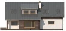 Проект великого будинку з мансардою, гаражем на дві машини