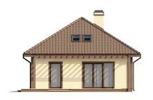 Проект класичного будинку з мансардою і 2 спальнями