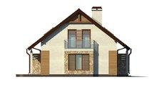 Проект двоповерхового будинку на 100 m² з гаражем