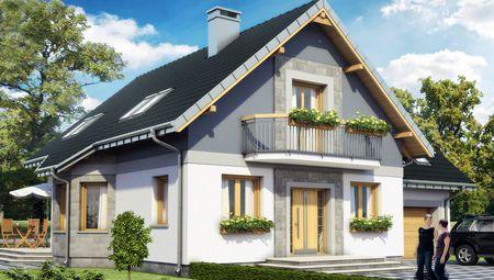 Проект котеджу з мансардою 11 на 9 площею понад 200 m²