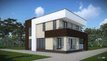 Архітектурний проект сучасного будинку з пласким дахом