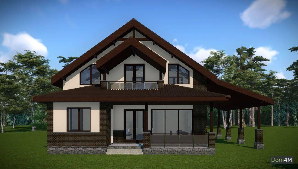 Проект будинку з мансардою для великої родини