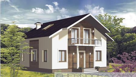 Проект житлового будинку площею 130 m²
