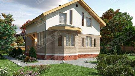 Проект недорогого зручного стильного будинку