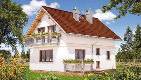 Проект мансардного будинку з еркером 8м на 10м