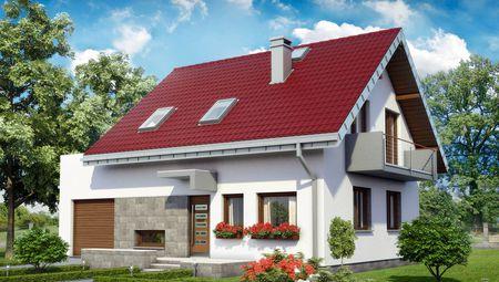 Архітектурний проект елегантного будиночка площею 140 m²