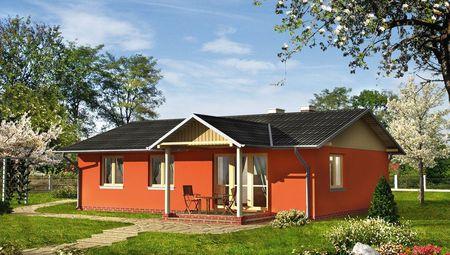 Чудовий будиночок з габаритами 9,5 на 13 м зі зручною терасою