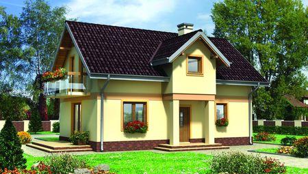 Невеликий заміський будинок з гармонійним дизайном