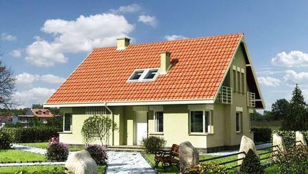 Проект будинку з мансардою в традиційному стилі площею 170 m²