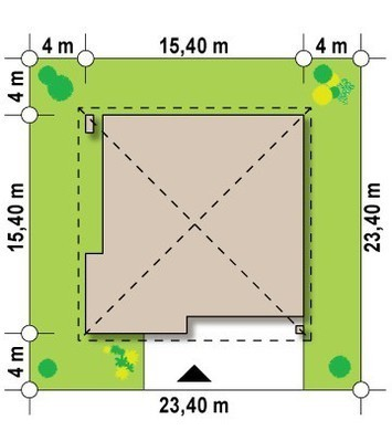Проект одноповерхового будинку з 4 спальнями і гаражем