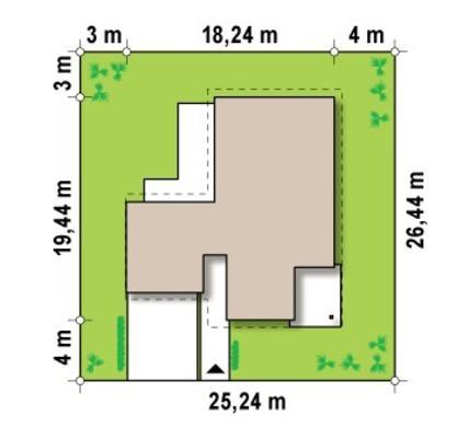 Проект одноповерхового будинку в скандинавському стилі