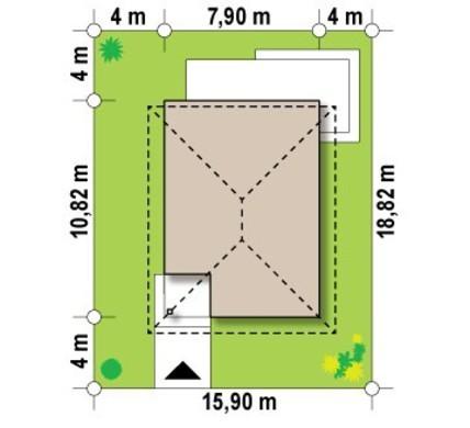 Проект компактного двоповерхового котеджу