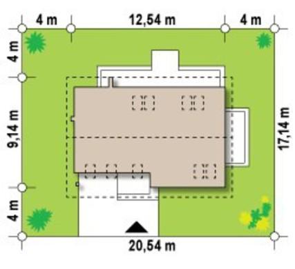 Проект невеликого будинку з мансардою та гаражем