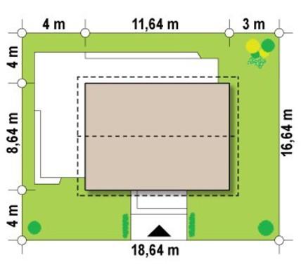 Готовий проект 1,5 поверхового будинку 8 на 12