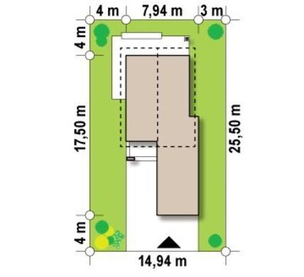 Проект двоповерхового котеджу з гаражем