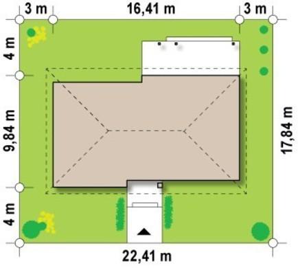 Проект одноповерхового класичного котеджу