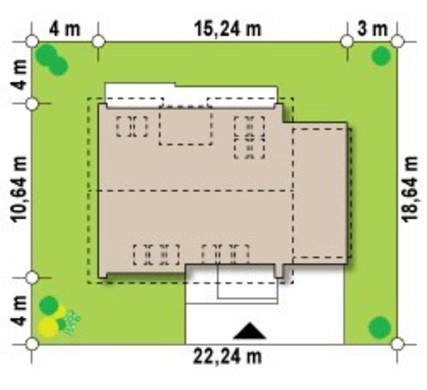 Сучасний проект мансардного будинку 10 на 15