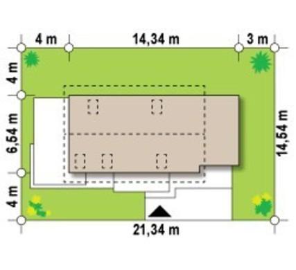 Проект будинку з оригінальним фасадом для великої ділянки
