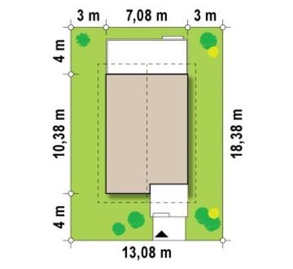 Проект будинку з високою аттиковою стіною