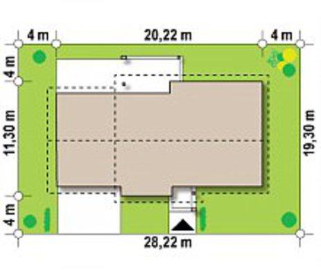 Комфортний будинок з гаражем на дві машини за типом 4M334