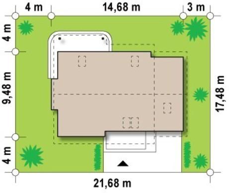 Проект економ котеджу з додатковою спальнею