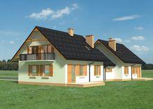 Архітектурний проект затишної заміської резиденції на дві сім'ї