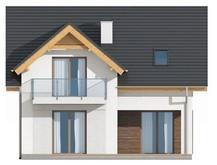 Проект невеликого котеджу з мансардними вікнами