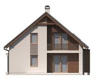 Проект будинку з мансардою і еркером