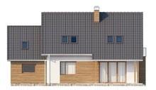 Проект будинку з мансардою над гаражем