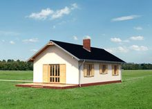 Милий двоповерховий будинок з просторою верандою