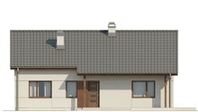 Проект простого одноповерхового котеджу з горищем