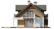 Проект затишного красивого котеджу з мансардою і оригінальним фасадом