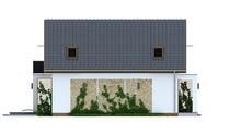 Проект класичного котеджу середніх розмірів з двосхилим дахом