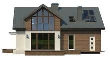 Проект стильного півтора поверхового будинку з мансардою