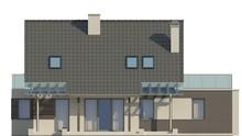 Проект невеликого одноповерхового будинку з терасою над гаражем