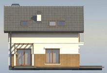 Проект котеджу з мансардою, додатковою кімнатою на першому поверсі